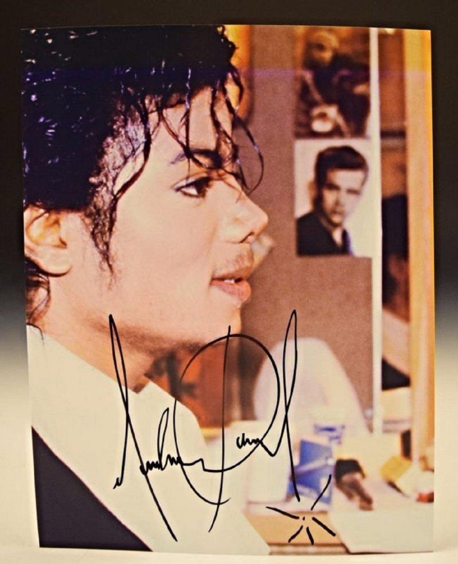 Michael Jackson Signed Photo