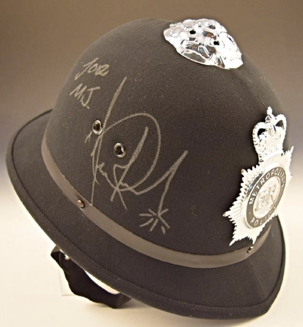 Michael Jackson Signed Worn Police Hat