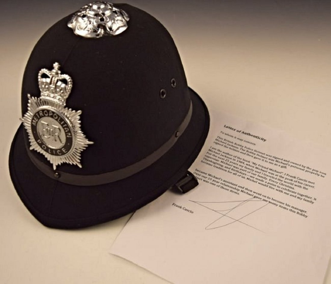 Michael Jackson Signed Worn Police Hat - 4