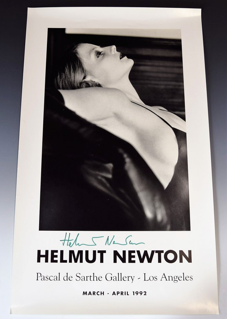 Helmut Newton Signed Exhibition Poster