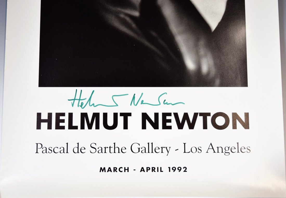 Helmut Newton Signed Exhibition Poster - 2
