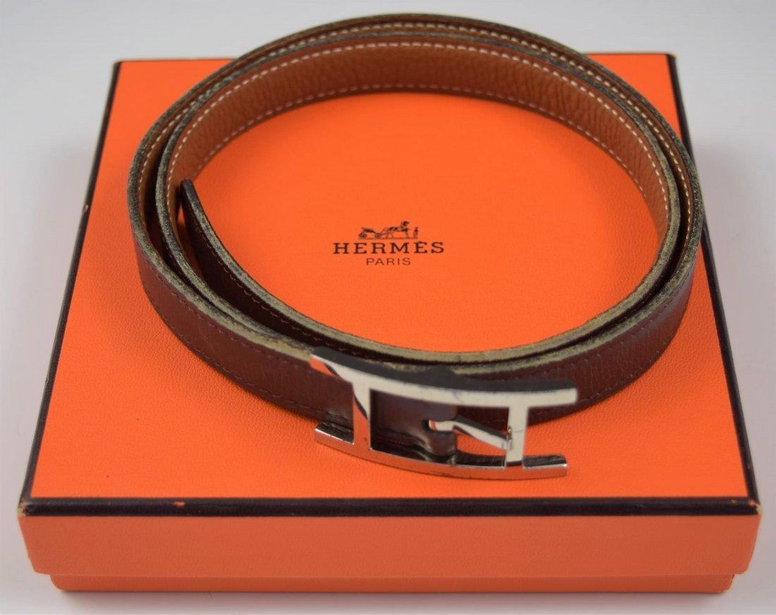 Vintage Hermes Leather Belt