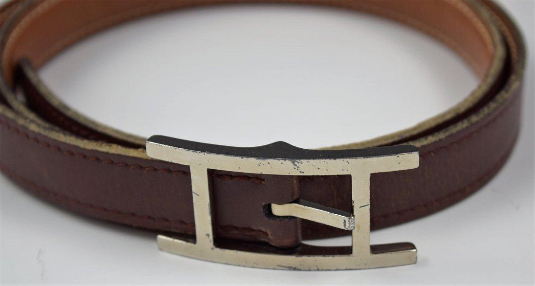 Vintage Hermes Leather Belt - 2