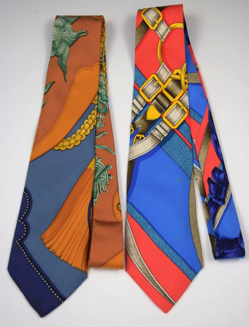 Hermes Silk Ties - 2