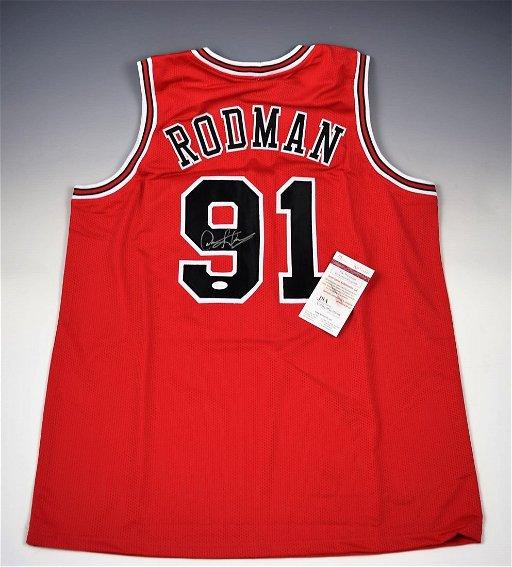 hot sale online b1f70 35211 Dennis Rodman Autograph Jersey - Jun 06, 2019 | Christiana ...