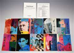 Andy Warhol Ten Portraits of Jews Hand Signed Portfolio