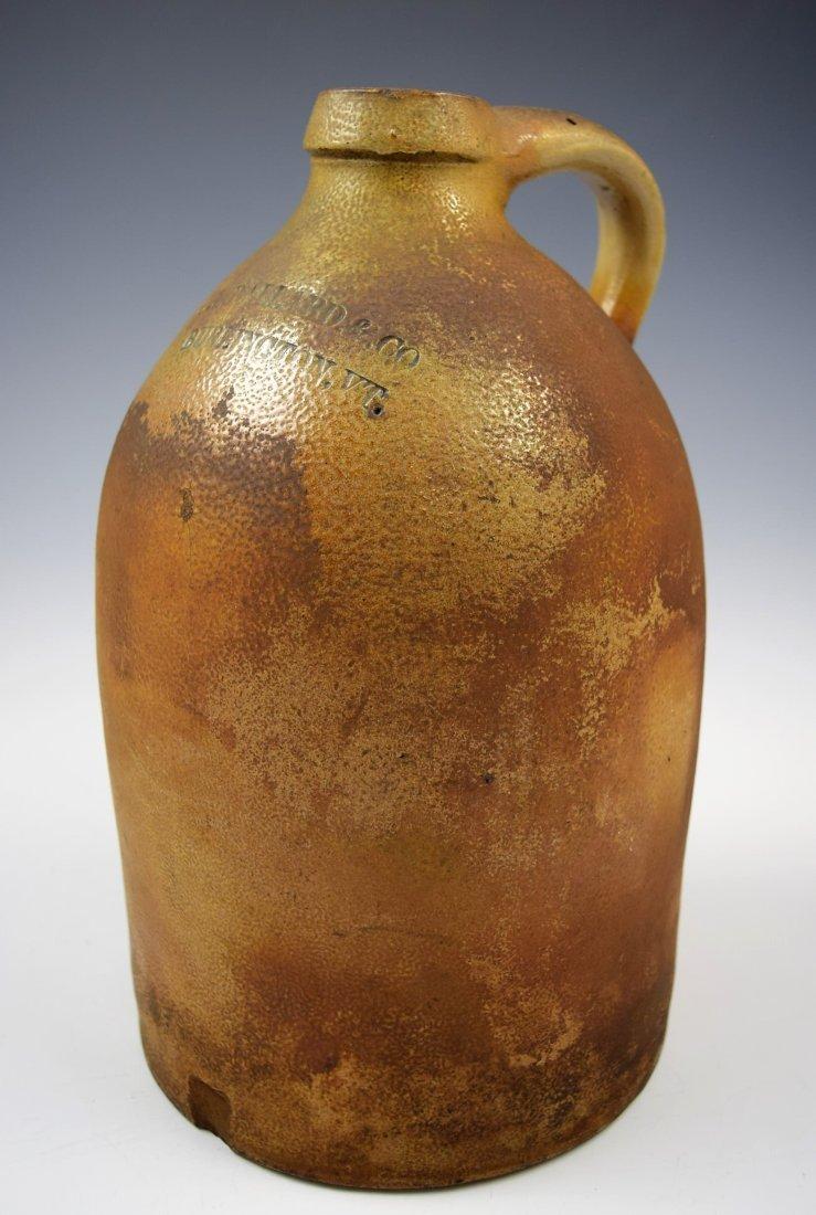 Antique Stoneware Jug  O. L. Ballard