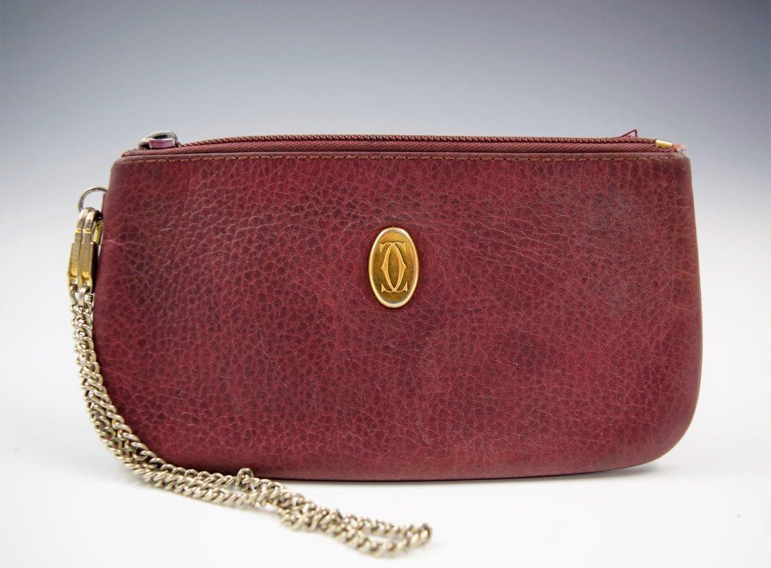 Vintage Cartier Leather Clutch Wallet