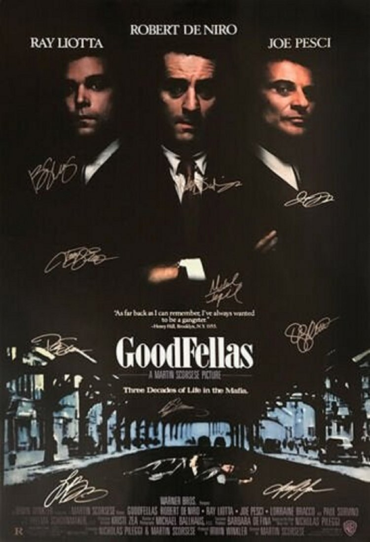 Goodfellas Cast Signed Movie Poster