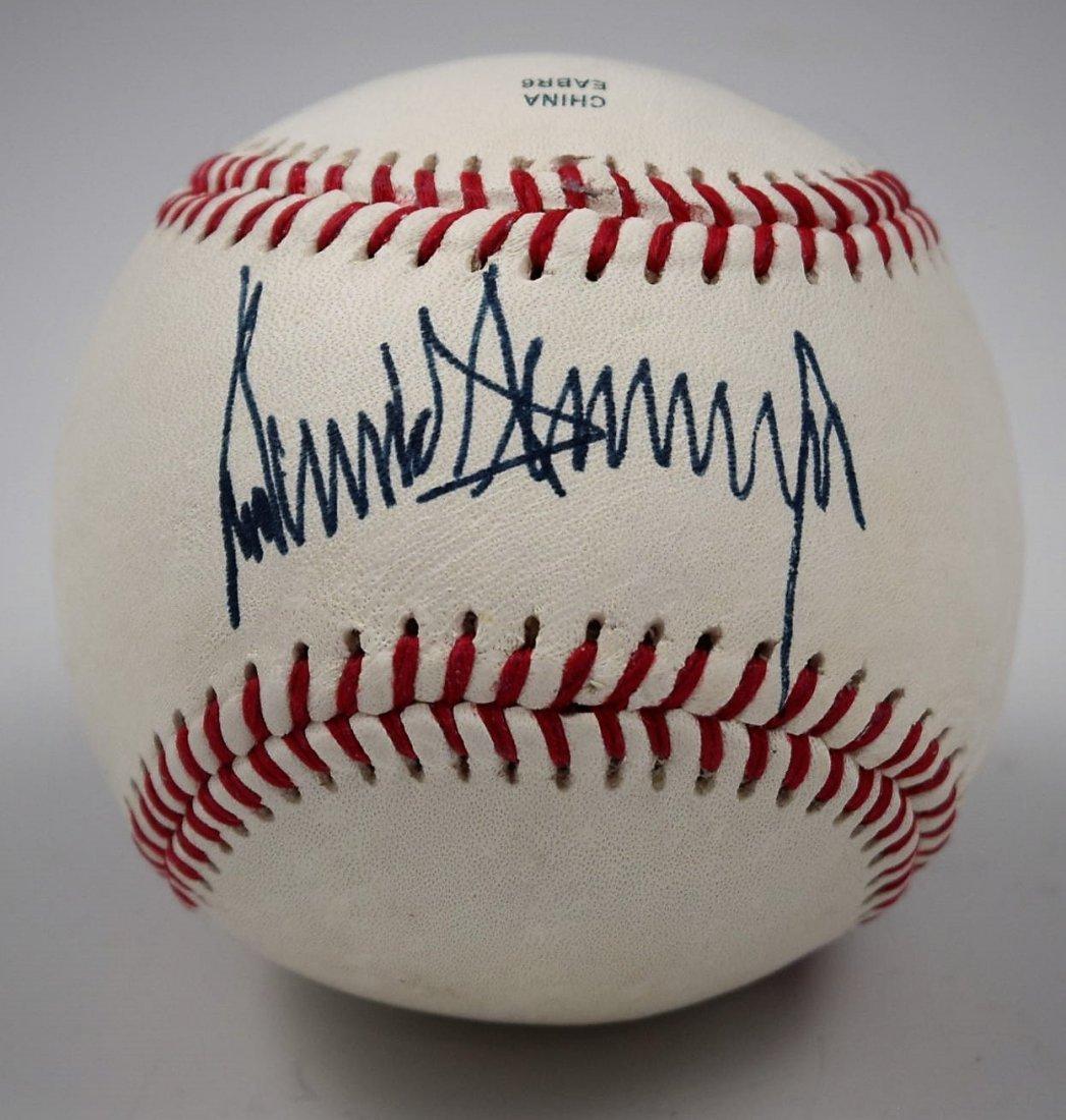 Donald Trump Autograph Baseball