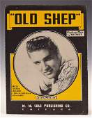 Elvis Presley Autograph Song Sheet