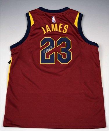 release date: 3972d e54df Lebron James Autographed Jersey