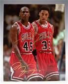 Michael Jordan  Scottie Pippen Hand Signed Photograph