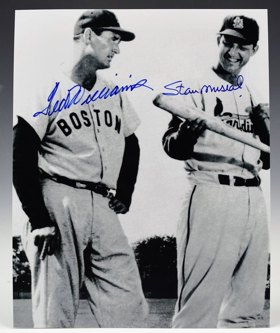 Ted Williams Stan Musial Signed Photograph