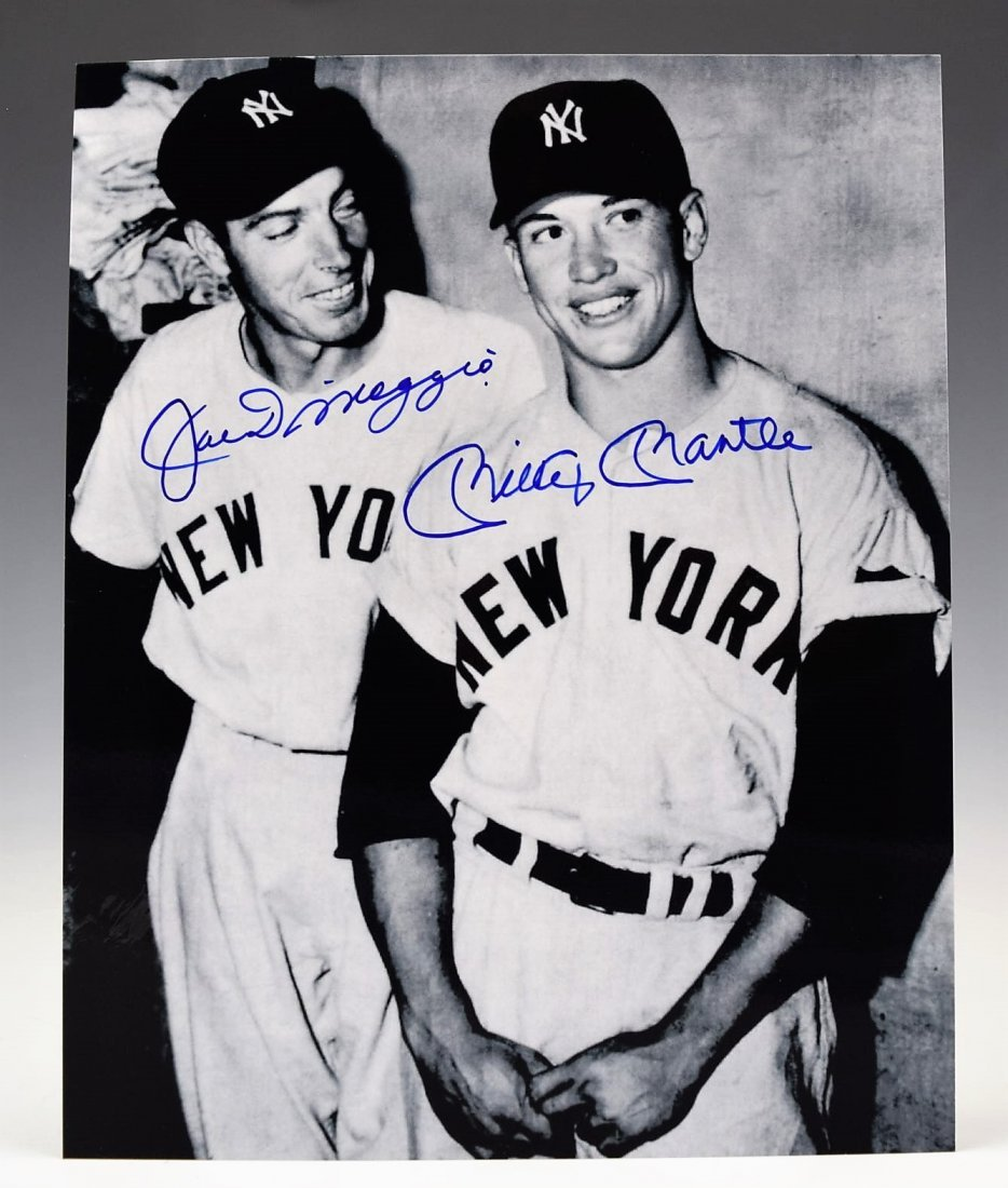 Joe Dimaggio and  Mickey Mantle Signed Photograph