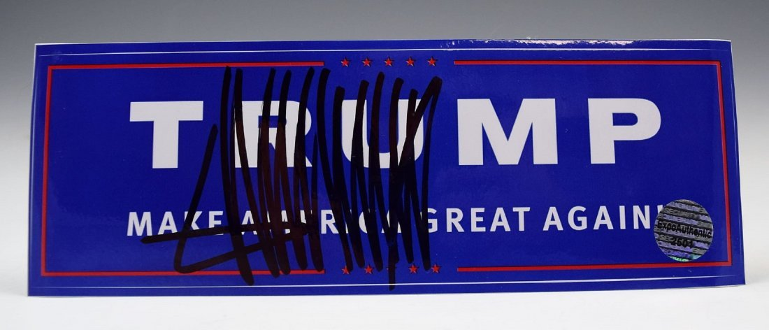 Donald Trump Autograph Campaign Sticker