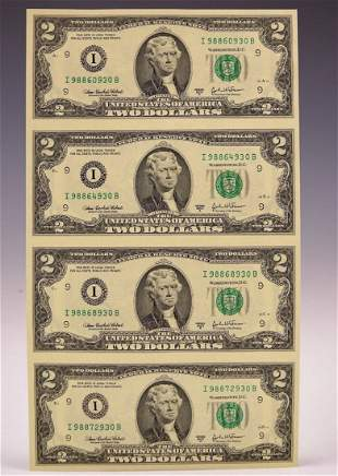 United States $2 Banknote