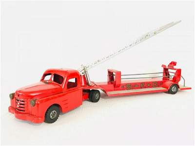 Structo Hydraulic Hook and Ladder Fire Toy Truck