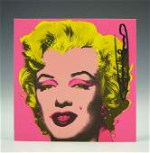 Andy Warhol Marilyn Signed Invitation