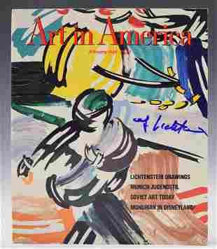 Roy Lichtenstein Signed Magazine