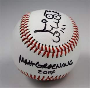 Matt Groening Drawing Baseball