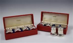 Cartier Sterling Silver Salt and Pepper Sets