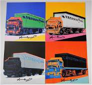 Andy Warhol Signed Trucks