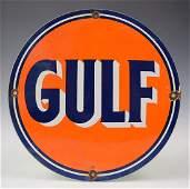 Gulf Gasoline Porcelain Sign