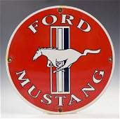 Vintage Ford Mustang Porcelain Sign