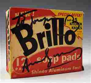 Andy Warhol Signed Brillo Pads Box