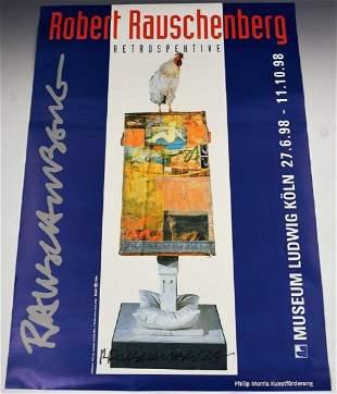 Robert Rauschenberg Signed Poster