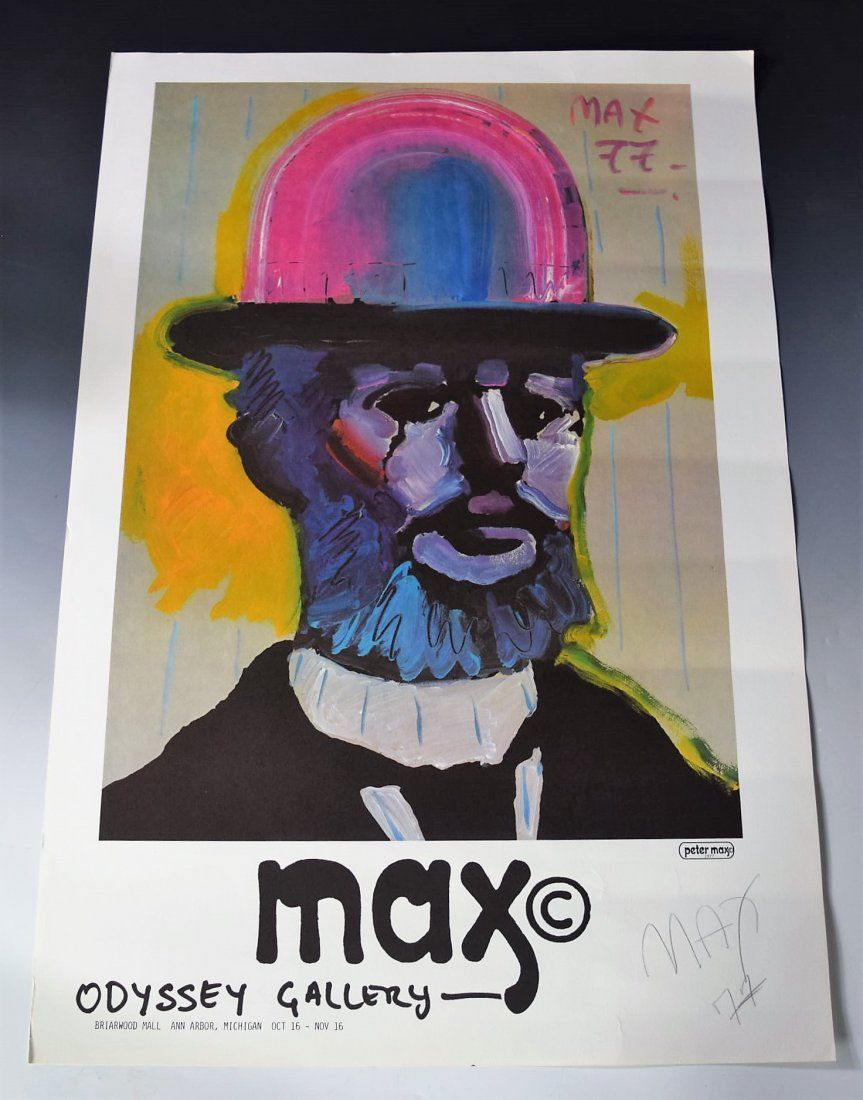 Vintage Peter Max Signed Poster