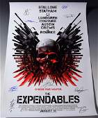 Expendables Cast Signed Movie Poster