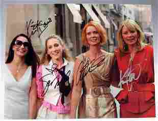 Sex And The City Cast Signed Photograph