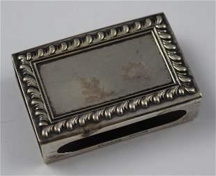 Vintage Cartier Sterling Silver Matchbox