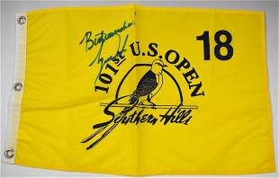 Tiger Woods Signed Flag