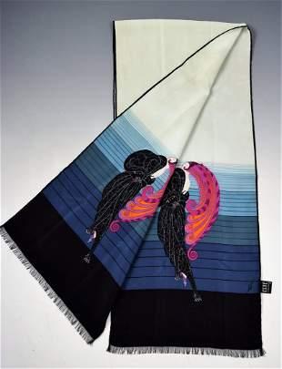 Vintage Erte Silk Scarf