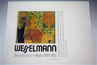 Tom Wesselmann Signed