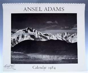 Ansel Adams Signed Calendar