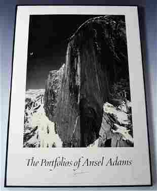 Ansel Adams Signed Poster