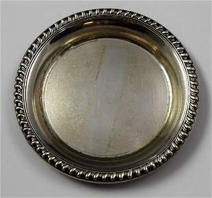 Vintage Cartier Sterling Silver Dish