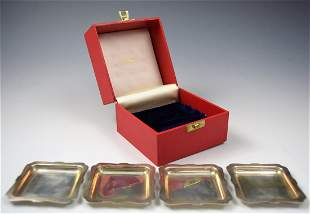 Cartier Sterling Silver Ashtray Set