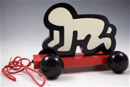 """Keith Haring """"Radiant Baby"""" Pull Toy"""