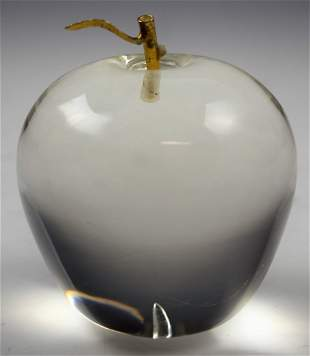 Cartier Crystal Apple Paperweight