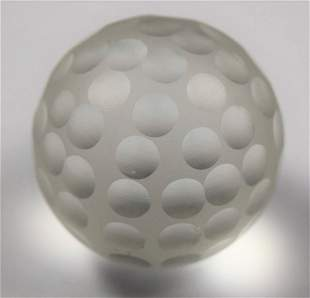 Vintage Cartier Crystal Golf Ball