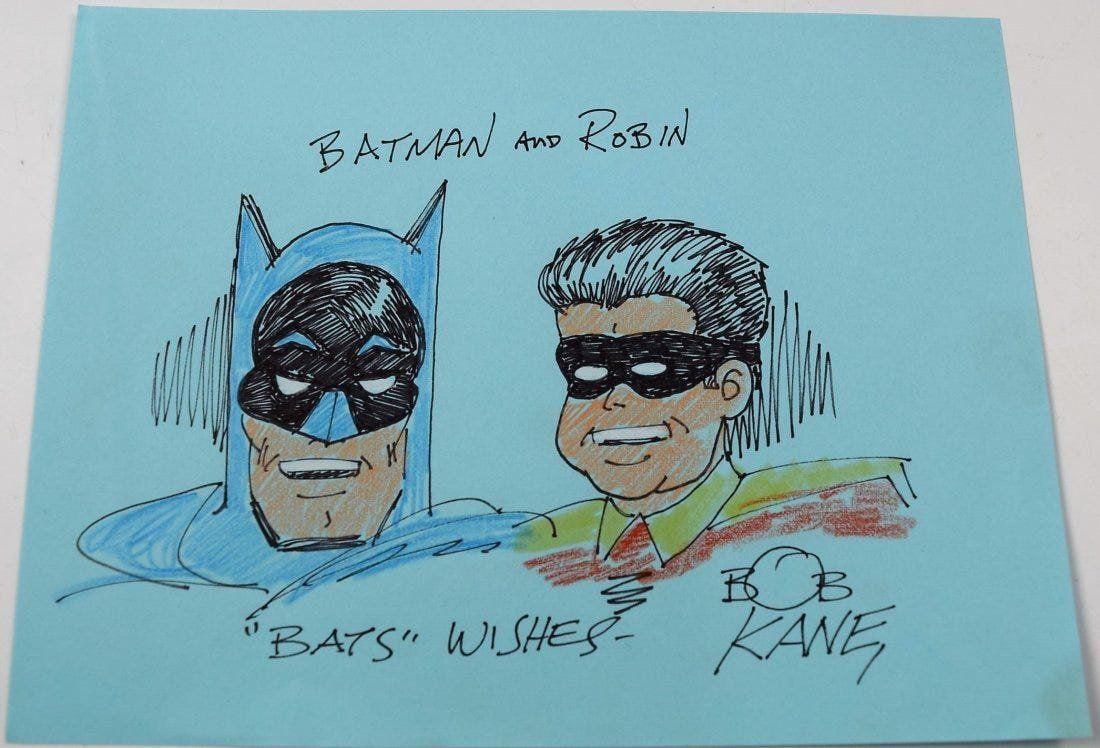 Bob Kane Sketch Of Batman And Robin