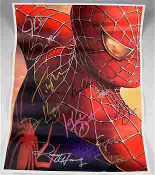 Spider-Man 2 Cast Signed Movie Poster