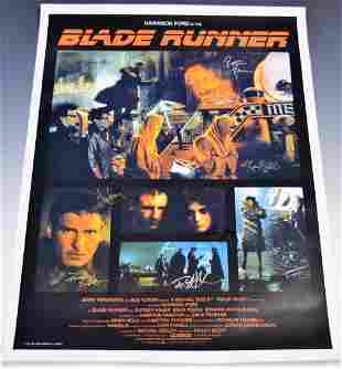 Blade Runner Cast Signed Movie Poster