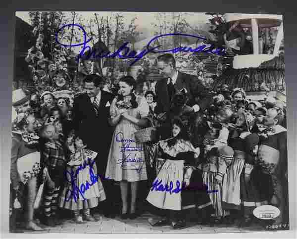 The Wizard Of Oz Cast Signed Photograph