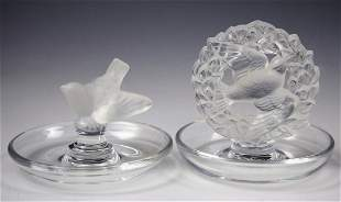 Lalique Crystal Holders